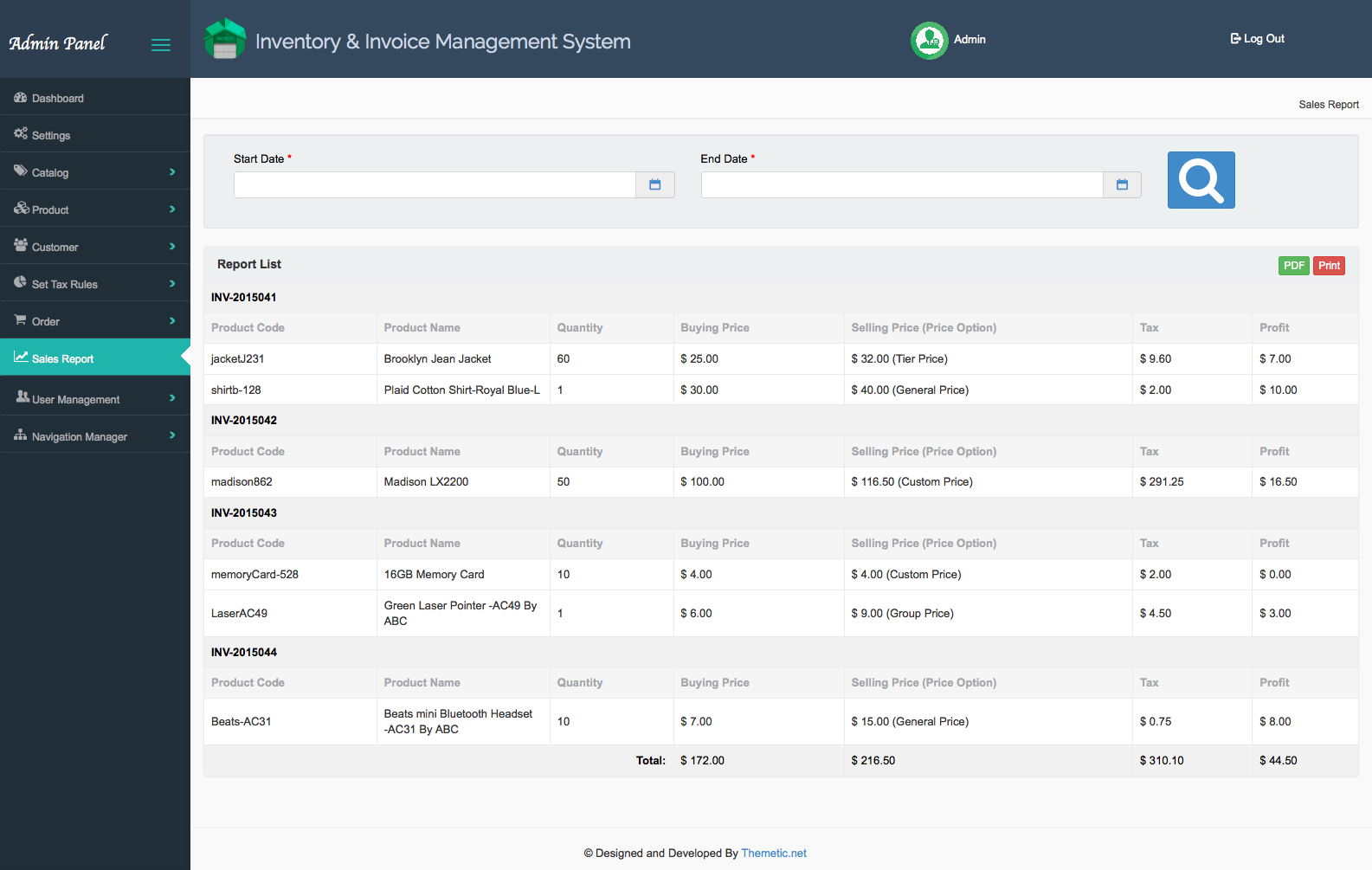 Inventory & Invoice Management System   Kinetic Technologiez
